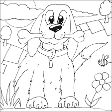 Small Picture Dog Colouring Picture