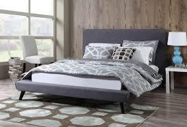 Nixon Platform Bed  Grey Linen TOV Furniture  Modern ManhattanLinen Platform Bed