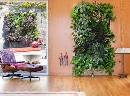 view in gallery lovely vertical garden on warm wooden wall