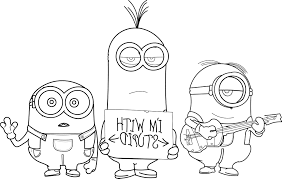 Small Picture Minions Coloring Page Perfect With Minions Coloring Page Top