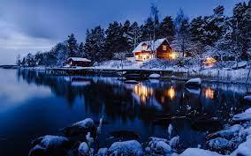 Winter night wallpaper ...