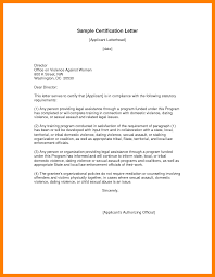 8 Certificate Letter Template Weekly Template