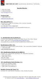 DIRECTORIO DE CAFĖ -Exportadores, Beneficios, Tostadores - PDF Descargar  libre