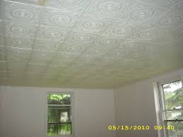 sagging tin ceiling tiles bathroom: wonderful white faux tin ceiling tiles matched with wall for ceiling decoration ideas