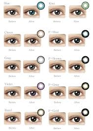 Contact Lenses Colour Chart Maxim Big Colour Eyes 2 Pack Blue Box Contact Lens