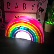baby room night light led smiling rainbow night lights lamp nursery room decoration for kids gro