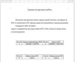 Курсовая работа Вычислительная техника и информационные  Курсовая работа Вычислительная техника и информационные технологии Построение памяти процессорной системы