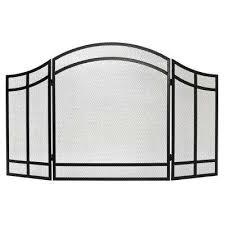 salishan 3 panel fireplace screen
