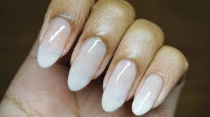 No Tools! Easy Subtle French Fade on Natural Nails Nail Art ...