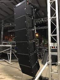 Diy Stage Lighting Rig Db Technologies Line Array Rig Sound Stage Stage