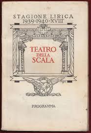 1940 Teatro della alla Scala Opera Milano Italy Theatre Classic Music  Program - Sigedon