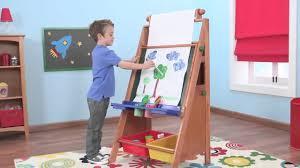 childrens easel desk wooden for kids painting drawing artwork by kidkraft