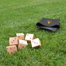 oversize wooden yard dice game company branded lawn dice sets best promotional yard dice
