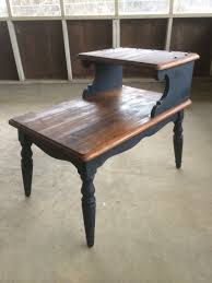 End Table Paint Ideas Two Toned Two Tier Antique End Table Diy Pretty Penny Furniture