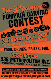 Pumpkin Carving Contest Flyers Crest Hardware Archives Greenpointersgreenpointers