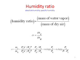 5 humidity ratio absolute humidity specific humidity