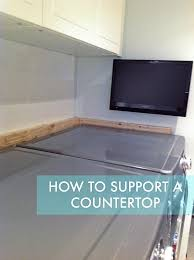 how to install a countertop over a washer and dryer diy floating countertop in the
