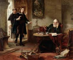 john milton biography works facts com john milton second from left meeting galileo right oil painting by