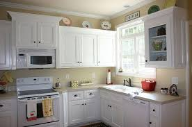 Interesting Painting Cherry Kitchen Cabinets White How To Repaint On Decorating Ideas