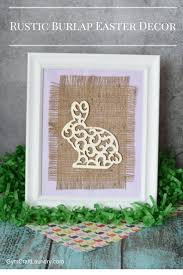 5 minute diy burlap wall art for easter