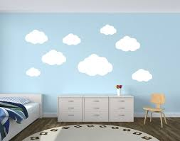 wall decor lovely decals world llc image pack of cloud wall decals playroom wall