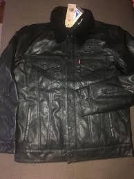 nwt men s levi s nba leather sherpa trucker jacket chicago bulls sz m 400