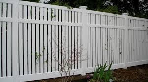 Dark Brown Vinyl Picket Fence Fences Ideas