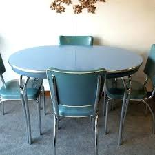 Vintage Blue Table With Chairs Retro Top Dining Tables Formica