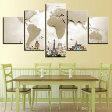 map of decor 2018 wall art canvas painting 5 panel no frame abstract world map on world map wall art with photo frames with 2018 wall art canvas painting 5 panel no frame abstract world map