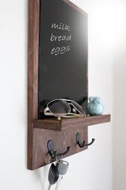 interior: Appealing Chalkboard Key Holder Colored In Black And Designed In  Simple Style Combined With