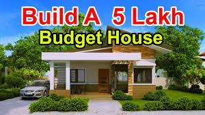 Low Cost Low Budget House Design Build A 5 Lakh Budget House Beautiful House Plan Low Budget House Plan