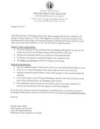 Recent Changes To Department Of Health Certificates Fairchild