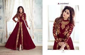 Heavy Designer Suits Wholesale Ashirwad Creation Kasa Gold Designer Heavy Embroidery Work