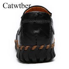 catwtber handmade flats shoes women split leather loafers women s shoes cow split leather casual soft new outdoor footwear boat