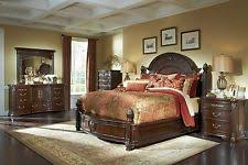 aico bedroom furniture. new 4pc villagio storage panel bedroom furniture set by aico - hazelnut finish aico |