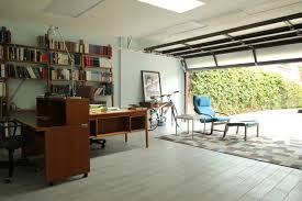 Home office in garage Living Space Shedworking Shedworking Garden Office Garage Conversions