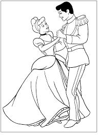 Disegno Da Colorare Di Cenerentola E Il Principe