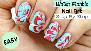 How To Do Easy Water Marble Nail Art Step By Step Tutorial In ...