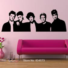 One Direction Wallpaper For Bedroom Aliexpresscom Buy One Direction Boyband 1d Silhouette Wall Art