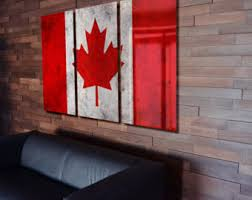 triptych canada flag hanging rustic worn metal wall art grunge on abstract metal wall art canada with triptych south korea flag hanging rustic worn metal wall art