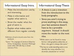 informational satire essay ppt video online  2 informational