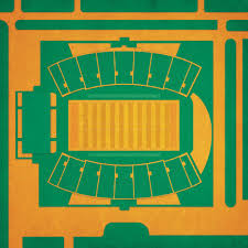 Bragg Memorial Stadium Map Art