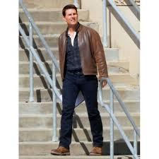 tom cruise jack reacher leather jacket brown leather jacket