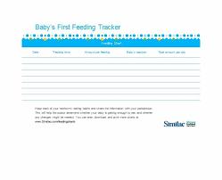 Similac Feeding Chart Pdf 50 Printable Baby Feeding Charts Newborn Feeding Schedule