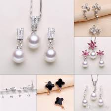 2019 pearl necklace settings sliver necklace earrings set settings diy accessories jewelry settings for women 5 styles from mljy 7 02 dhgate com