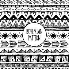 Bohemian Pattern Unique Tribal Ethnic Black And White Bohemian Pattern With Geometric