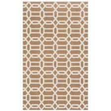 ruggable washable fretwork rich tan 3 ft x 5 ft stain resistant area rug