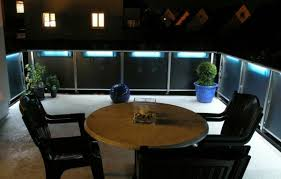 balcony lighting ideas. Blue Light On The Balcony And Garden Lamps Lighting - Modern Cool Ideas