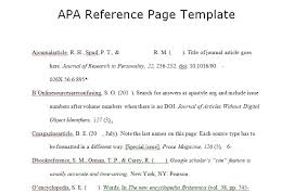 Download Apa Reference Page Template Excel Spreadsheet