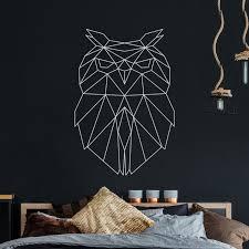 Wandtattoo Geometrische Eule Polygonaler Stil Wanddeko Flur